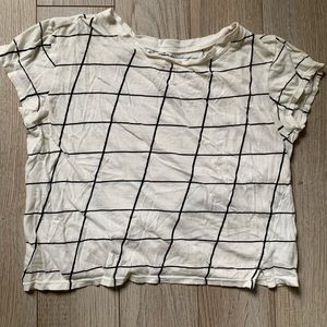 BDG Grid print T-shirt, cropped